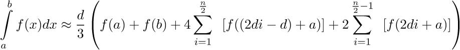 simpson formel zur bestimmung eines integrals mit dem taschenrechner berechnen php function blog. Black Bedroom Furniture Sets. Home Design Ideas