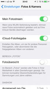 iOS8: Foto-Übersicht deaktivieren